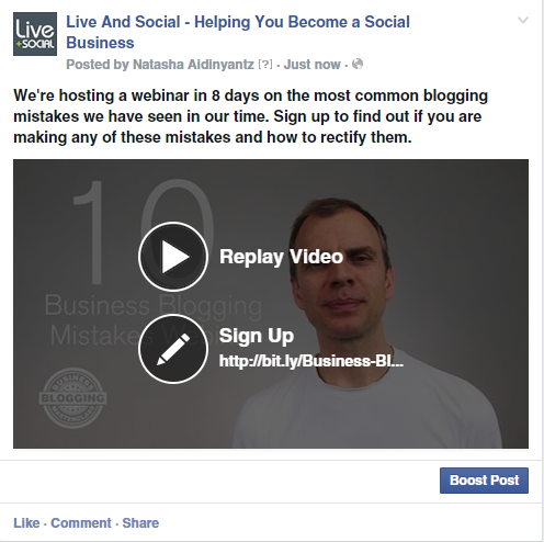 non-profit video cta