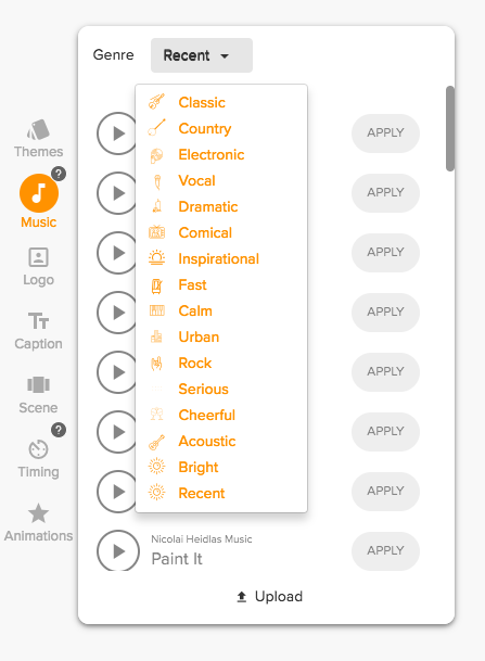 how to select music genre