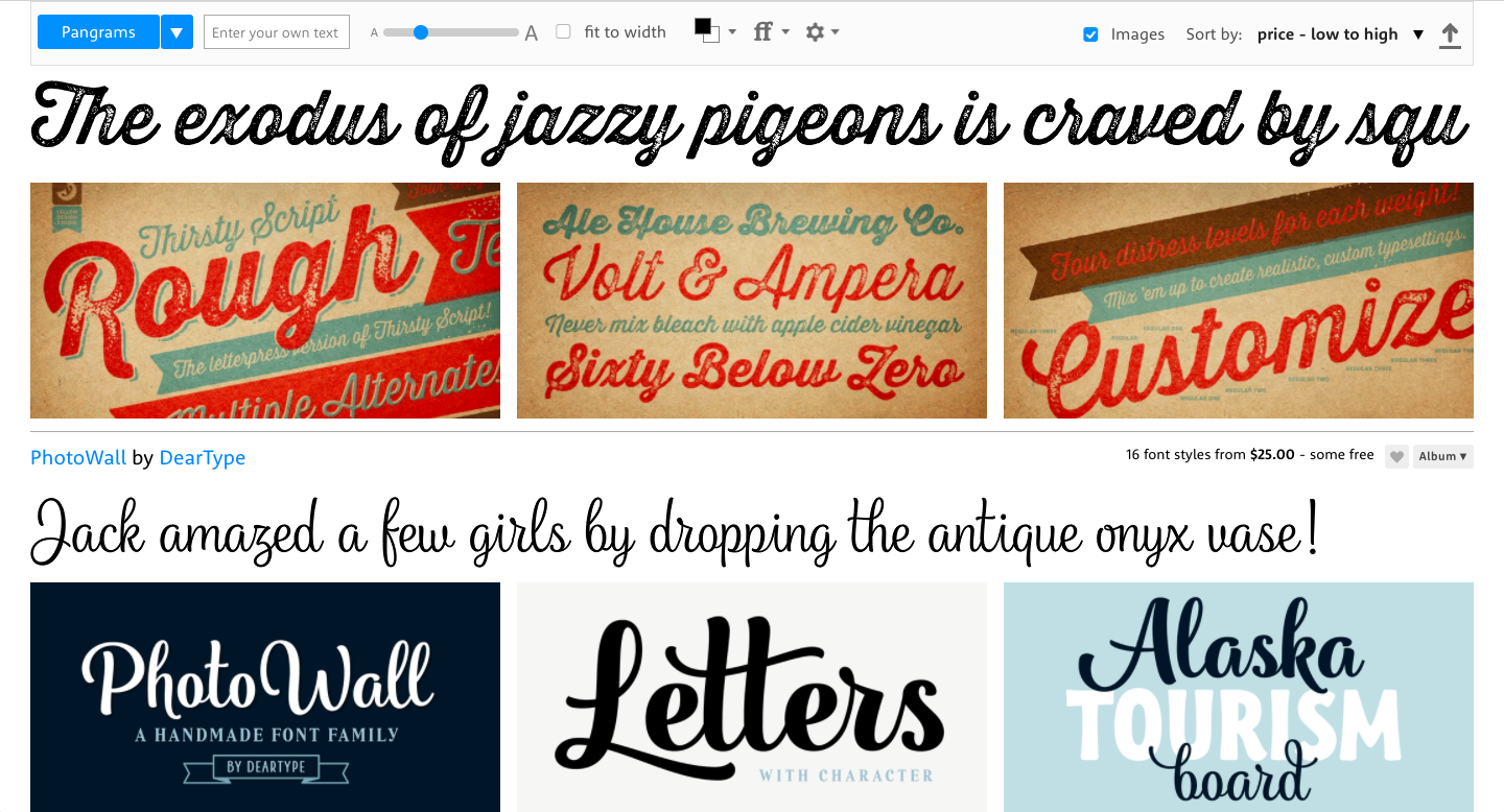 fonts from myfonts