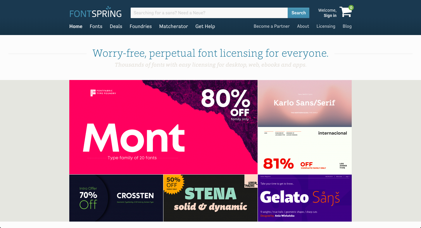 fontspring paid fonts