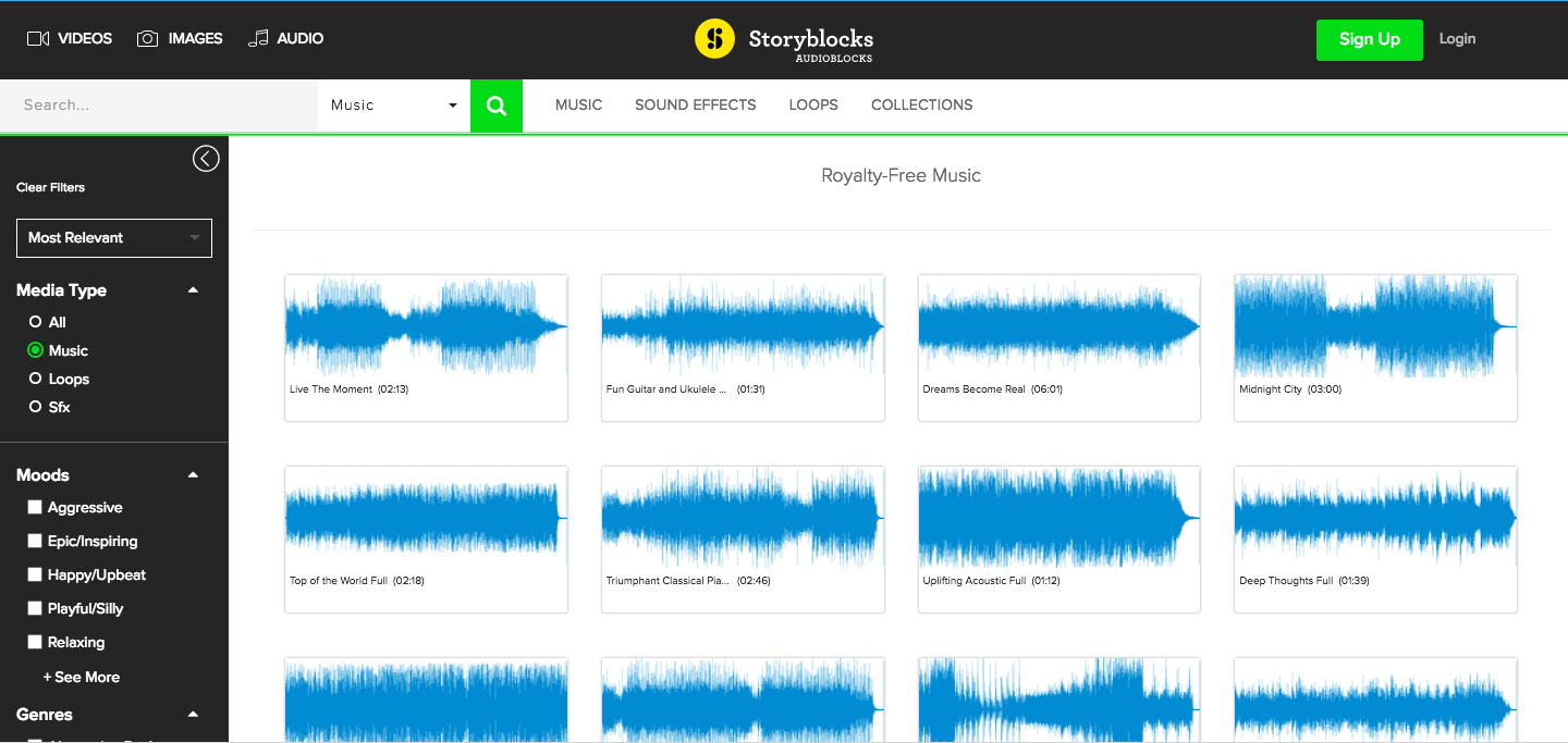 royalty-free music from audioblocks