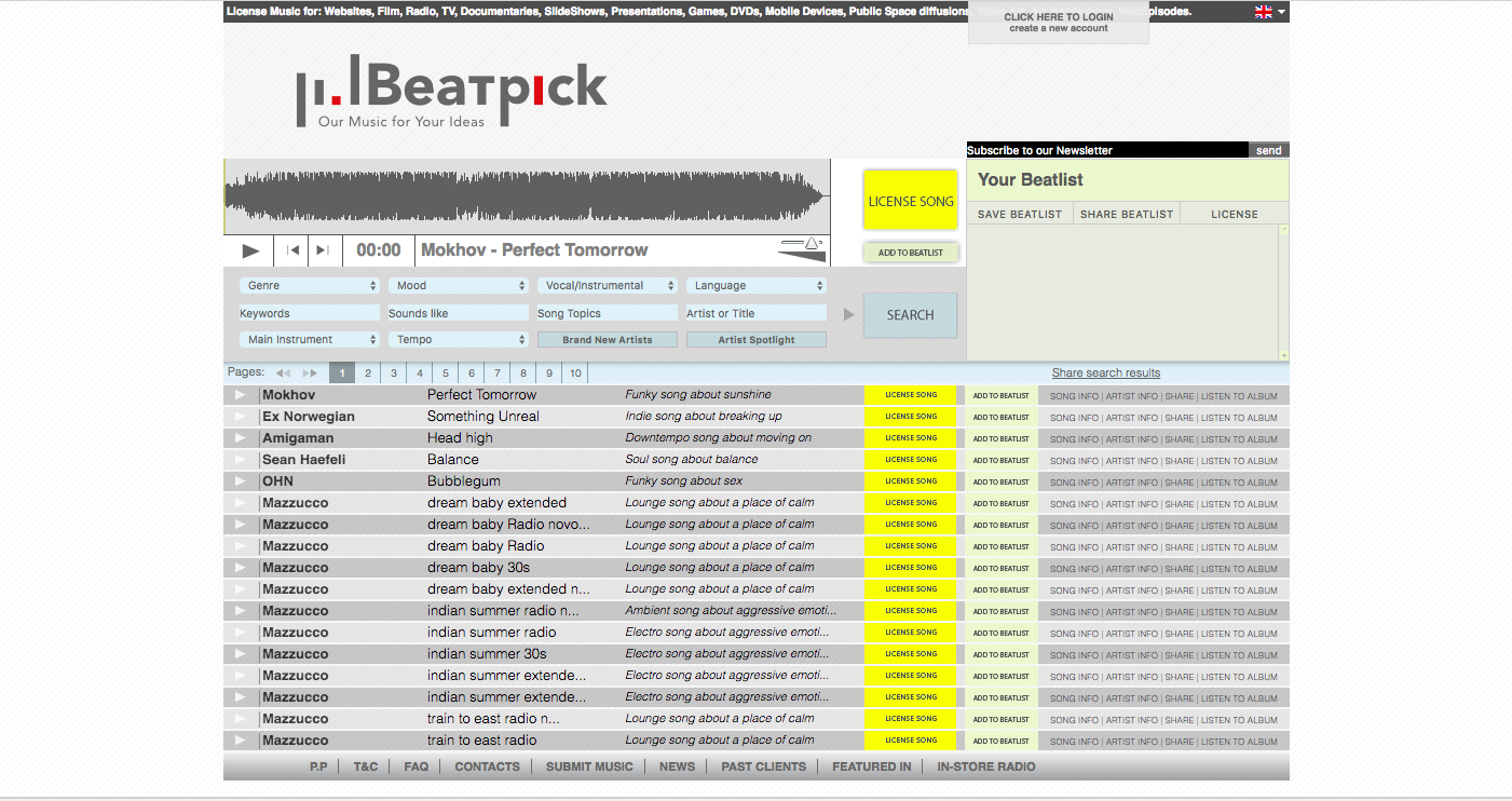 royalty-free music from beatpick