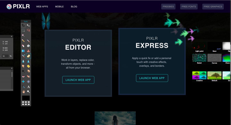Pixlr -photo editing tools