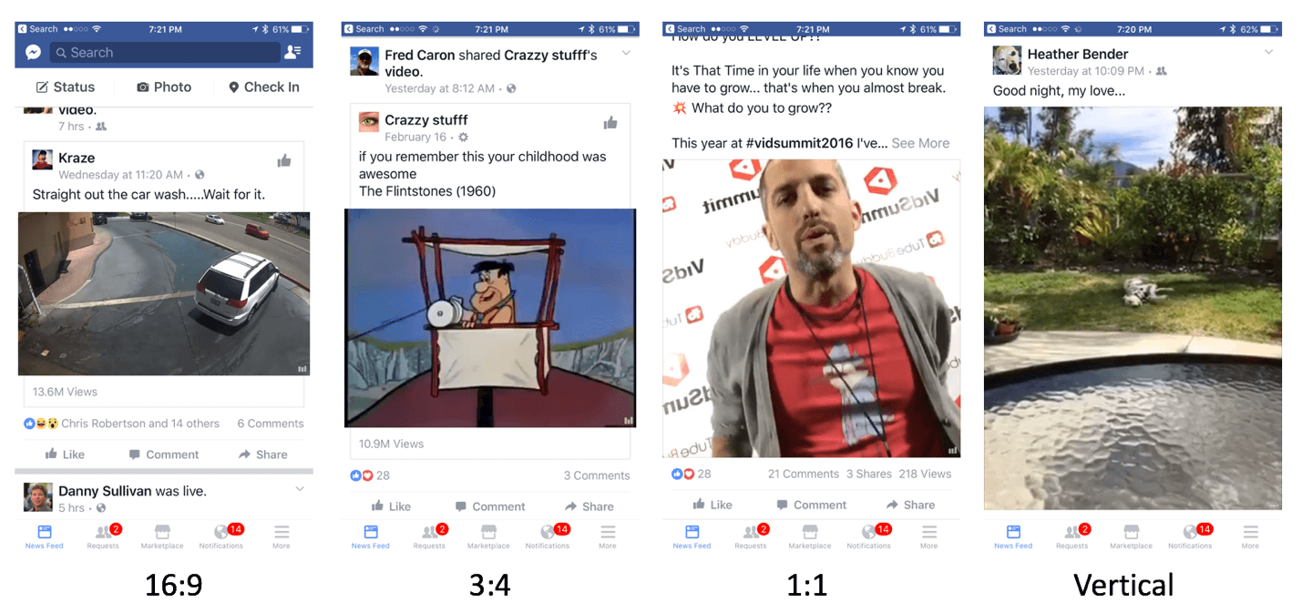 All video formats - example from facebook