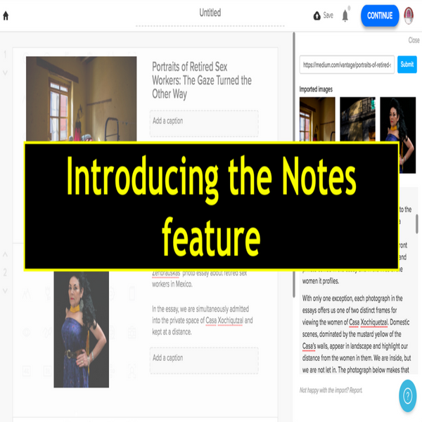 Introducing the Notes Feature in Online Video Making Tool