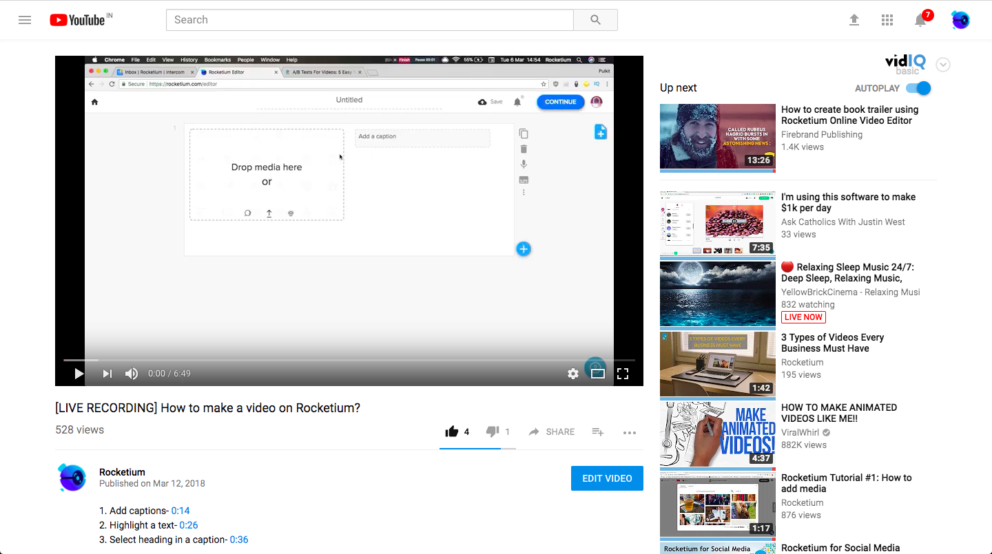YouTube native video size