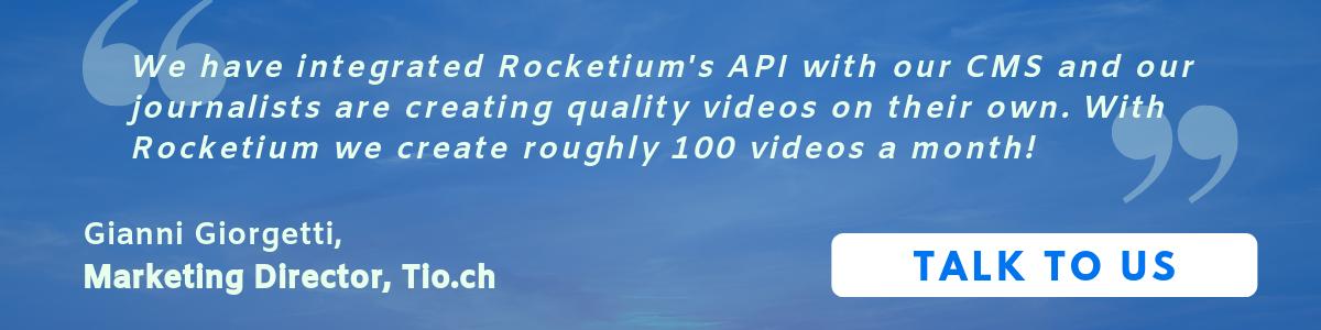 Tio.ch make close to 100 videos a month using Rocketium's video API