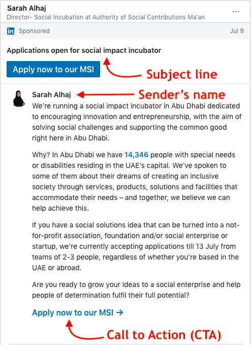 LinkedIn Sponsored InMail specs