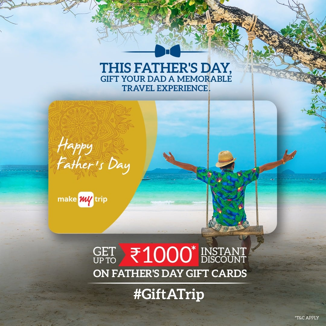 MakeMyTrip Father's Day Banner