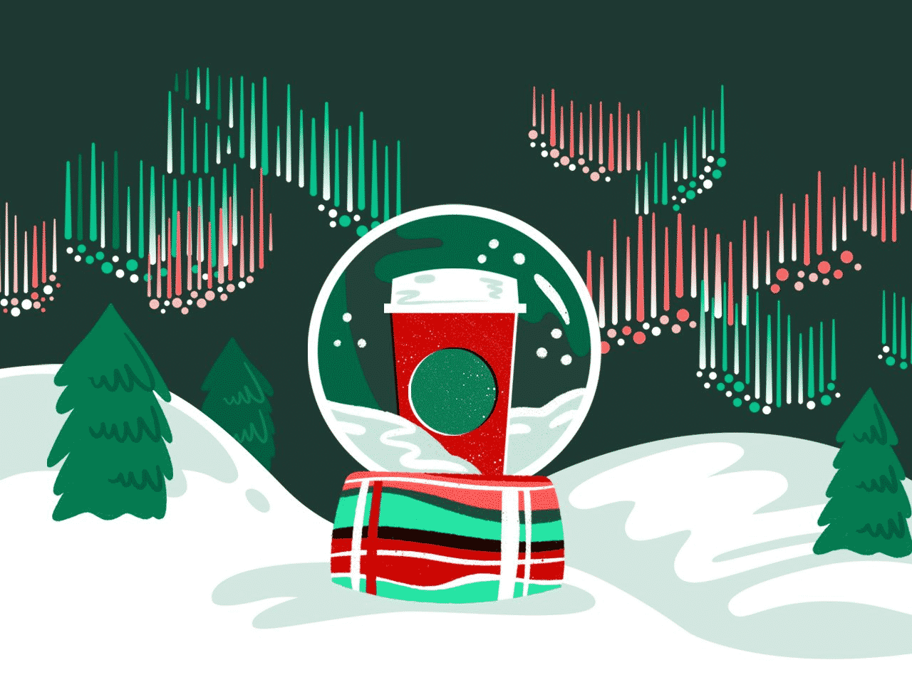 Starbucks Holiday Campaign email theme