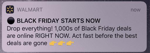 Walmart-Black-Friday-Campaign-Push-Notification